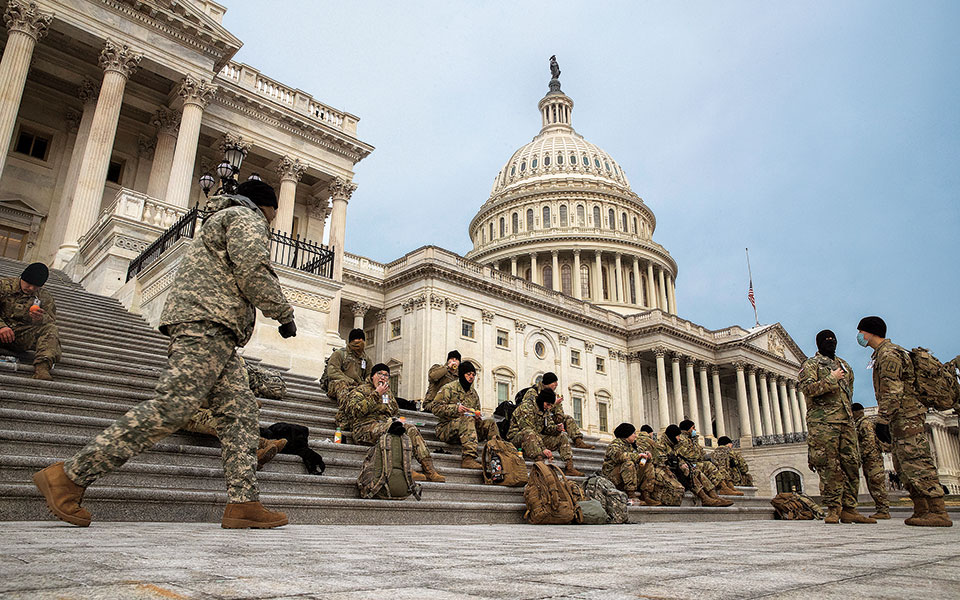 Η Εθνοφρουρά προστατεύει το Καπιτώλιο