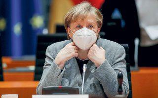 Η  καγκελάριος Μέρκελ ανακοίνωσε την Τρίτη ότι ίσως χρειαστούν άλλες 10 εβδομάδες καραντίνας και αναστολής της οικονομικής δραστηριότητας προκειμένου να ανασχεθεί η μετάδοση του νέου και πολύ πιο μεταδοτικού στελέχους του κορωνοϊού.