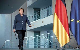 Η Γερμανίδα καγκελάριος Αγκελα Μέρκελ διανύει τους τελευταίους μήνες της θητείας της και η κούρσα διαδοχής ανοίγει σήμερα με την online ανάδειξη νέας ηγεσίας στους Χριστιανοδημοκράτες (CDU). Φωτ. Michel Kappeler / Pool via REUTERS)