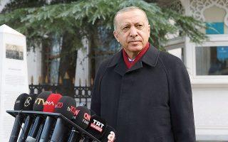 Ο Ταγίπ Ερντογάν έκανε γνωστό χθες πως η Τουρκία διαπραγματεύεται την προμήθεια δεύτερης παρτίδας S-400 (φωτ. Turkish Presidency via A.P., Pool).