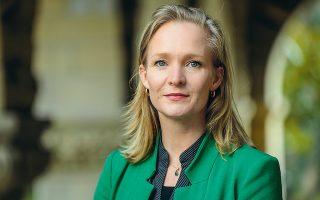 Η δυναμική πρώην ευρωβουλευτής και νυν επικεφαλής διεθνούς πολιτικής του Stanford Cyber Policy Center Μαριέτζε Σάακε. (Φωτ. ROD SEARCEY)