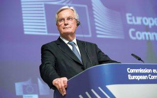 «Ξέρω ότι μας συγκρίνουν με διεθνείς οργανισμούς, αλλά είμαστε Ενωση και η Βρετανία πήρε μέρος στην Ενωση αυτή επί 47 χρόνια», ανέφερε ο διαπραγματευτής της Ε.Ε. για το Brexit, Μισέλ Μπαρνιέ (φωτ. REUTERS).