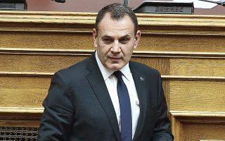 Τηλεφωνική επικοινωνία με τη Γαλλίδα ομόλογό του Φλοράνς Παρλί είχε χθες ο υπουργός Εθνικής Αμυνας Ν. Παναγιωτόπουλος (φωτ. INTIME NEWS).