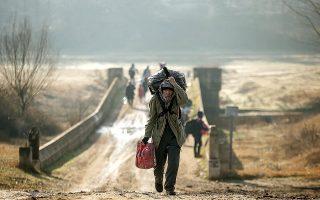 Η ΕΕΔΑ ολοκλήρωσε την πρώτη πλήρη έκθεση αναφοράς για τα προσφυγικά και μεταναστευτικά θέματα (φωτ. A.P.).