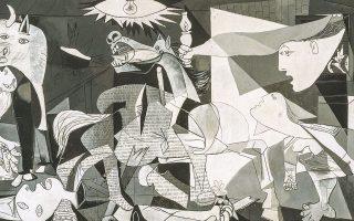 Η «Γκουέρνικα», ένα έργο τέχνης-σύμβολο, δημιουργήθηκε το 1937 ως αντιπολεμική καλλιτεχνική δήλωση στο πλαίσιο του ισπανικού εμφυλίου πολέμου (1936-1939).