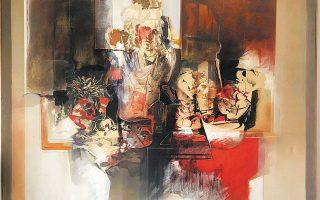 Εργο του Αντώνη Απέργη από την έκθεση «Art for first choice», στην γκαλερί Artforum της Θεσσαλονίκης.