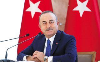 «Θέλουμε τις διαβουλεύσεις για τα θέματα των διαφορών. Εστω για να μειωθεί η ένταση αυτή την περίοδο», τόνισε ο Μεβλούτ Τσαβούσογλου (φωτ. Fatih Aktas / Turkish Foreign Ministry via A.P., Pool).