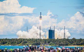 Η αποστολή «Tianwen-1» σηματοδοτεί ένα νέο κεφάλαιο στην προσπάθεια της Κίνας να αναδειχθεί σε παγκόσμια διαστημική δύναμη. (Φωτ. EPA / STR)