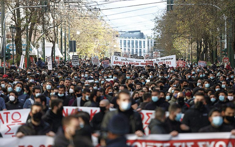 Συλλαλητήριο χωρίς κανένα μέτρο προστασίας