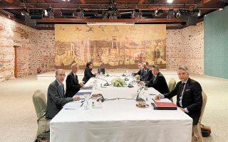Σχετικά βέβαιη είναι μόνο η ημερομηνία πραγματοποίησης της άτυπης πενταμερούς διάσκεψης για το Κυπριακό υπό την αιγίδα του ΟΗΕ, το πρώτο δεκαήμερο του Μαρτίου. Εκτιμάται ότι ο 62ος γύρος των διερευνητικών θα πραγματοποιηθεί είτε λίγο πριν είτε λίγο μετά (φωτ. από τον 61ο γύρο στην Κωνσταντινούπολη). (Φωτ. EPA / TURKISH FOREIGN MINISTRY)