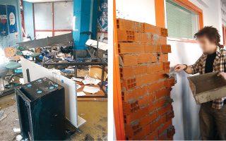 Αριστερά, Πανεπιστήμιο Πειραιώς, 2020. Σπασμένες καρέκλες και τραπέζια, σκισμένα συγγράμματα και αφίσες, έπειτα από επίθεση κουκουλοφόρων. Δεξιά, Δημοκρίτειο Πανεπιστήμιο Θράκης, 2006. Φοιτητές έχτισαν με τούβλα την είσοδο του γραφείου του αντιπρύτανη.