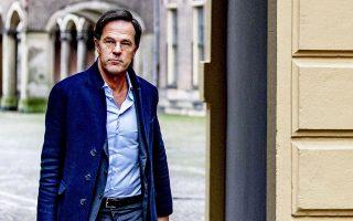 Ο Ολλανδός πρωθυπουργός Μαρκ Ρούτε (φωτ. EPA/Robin Utrecht).
