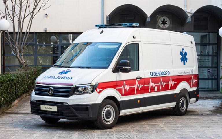 Δωρεά ασθενοφόρου Volkswagen Crafter στο Ε.Κ.Α.Β.