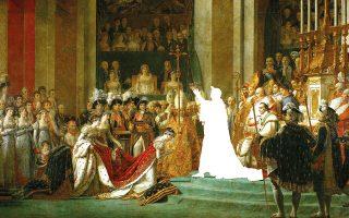 Εικονογράφηση: Δημήτρης Τσουμπλέκας, βασισμένη στον πίνακα του Jacques-Louis David, «The Coronation of Napoleon» (1805-1807)