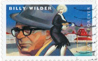 Γραμματόσημο με το πρόσωπο του Μπίλι Γουάιλντερ και τη σιλουέτα της Μέριλιν Μονρόε – αναφορά στην ταινία «Μερικοί το προτιμούν καυτό» (1959).