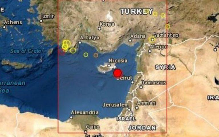 Σεισμός 5,4 Ρίχτερ ταρακούνησε την Κύπρο