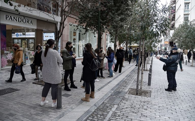 Καμπανάκι κινδύνου για τον συνωστισμό σε εμπορικούς δρόμους