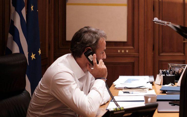 Τηλεφωνική επικοινωνία του πρωθυπουργού με τον νέο πρόεδρο του CDU
