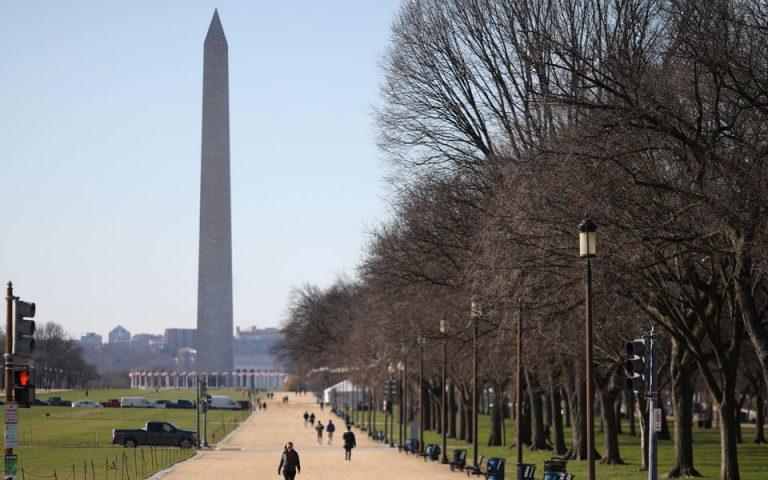 Κλείνει το Μνημείο του Ουάσιγκτον ενόψει ορκωμοσίας Μπάιντεν
