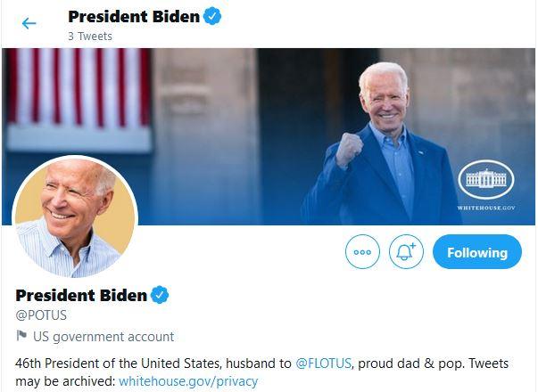 Twitter: Οι επίσημοι λογαριασμοί της αμερικανικής προεδρίας παραδόθηκαν στον Μπάιντεν