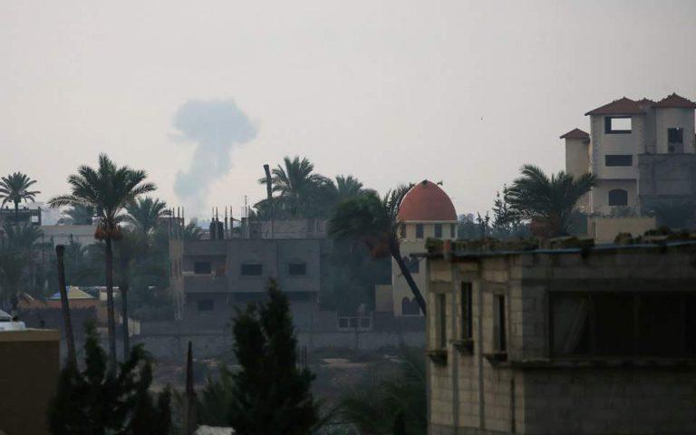 Πλήγματα του Ισραήλ στη Γάζα σε αντίποινα για εκτόξευση ρουκέτας