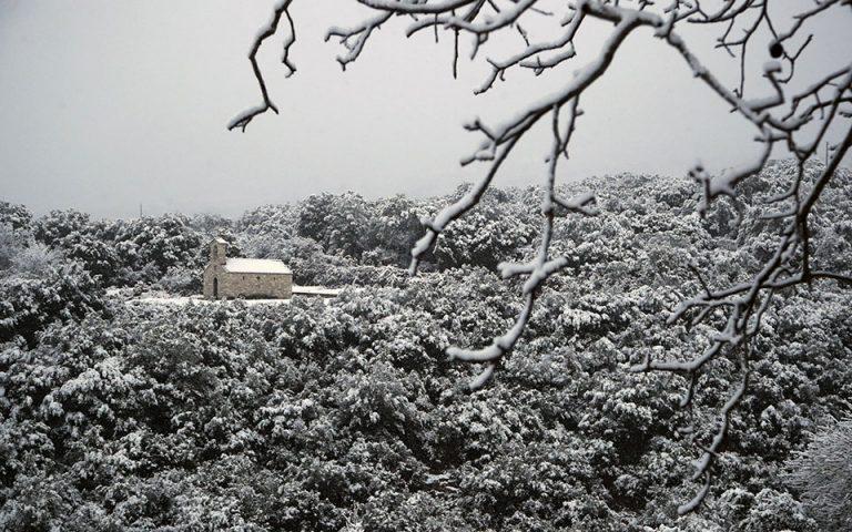 Χιόνια και παγετός στην πρώτη φάση του «Λέανδρου»
