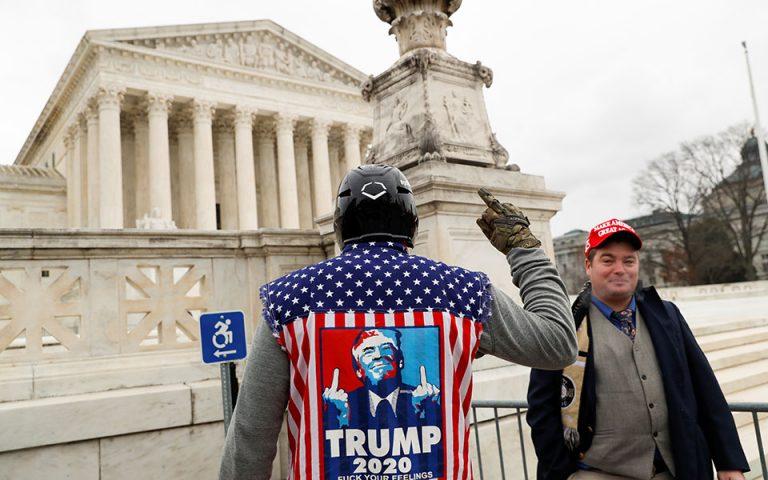 Οι οπαδοί του Τραμπ  συρρέουν στην Ουάσινγκτον