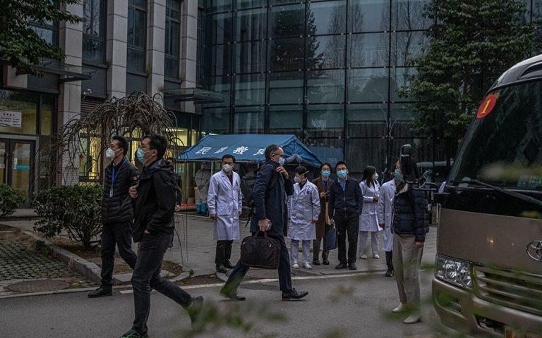 Γουχάν: Επίσκεψη ομάδας ΠΟΥ σε νοσοκομείο που δέχθηκε τους πρώτους ασθενείς με Covid