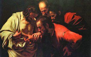 Καραβάτζο, «Ο Απιστος Θωμάς» (1601-1602).