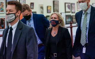 H αποπομπή της Μάρτζορι Τέιλορ Γκριν έγινε με τις ψήφους του Δημοκρατικού Κόμματος, καθώς και 11 Ρεπουμπλικανών (φωτ. REUTERS/Sarah Silbiger).