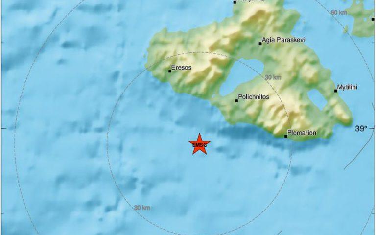 Σεισμός 5 Ρίχτερ νότια της Λέσβου