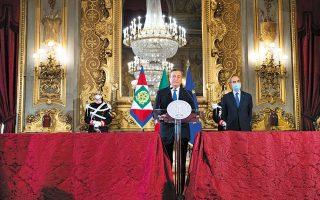 O τέως διοικητής της Ευρωπαϊ-κής Κεντρικής Τράπεζας Μάριο Ντράγκι έλαβε εντολή σχηματισμού κυβέρνησης (φωτ. A.P. Photo / Alessandra Tarantino, Pool).