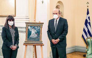 Η ΠτΔ Κατερίνα Σακελλαροπούλου με τον Δ. Γκέρτσο (φωτ. ΘΟΔΩΡΗΣ ΜΑΝΩΛΟΠΟΥΛΟΣ).