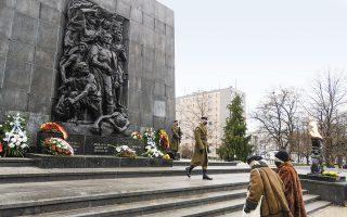 Κατά τη διάρκεια της ναζιστικής κατοχής, πάνω από 3,2 εκατ. Εβραίοι έχασαν τη ζωή τους στην Πολωνία (φωτ. A.P. Photo/Czarek Sokolowski).