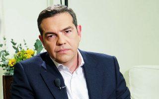 O κ. Αλ. Τσίπρας δεν απέκλεισε το ενδεχόμενο πρόωρων εκλογών, αφού, όπως επεσήμανε, φέρεται να δέχεται τέτοιες εισηγήσεις ο πρωθυπουργός (φωτ. Γ.Τ ΣΥΡΙΖΑ / ANDREA BONETI).