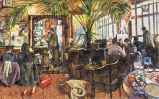 «Café Paris». Εργο του ζωγράφου και καθηγητή της Ανωτάτης Σχολής Καλών Τεχνών Παύλου Σάμιου, που πέθανε στις 4 Φεβρουαρίου. Το έργο της φωτογραφίας προέρχεται από την τελευταία του ατομική έκθεση που πραγματοποιήθηκε τον Σεπτέμβριο - Οκτώβριο του 2020 στην γκαλερί Σκουφά, με τίτλο «Καφέ Παράδεισος».