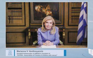 Η Μαριάννα Βαρδινογιάννη, «οικοδέσποινα» της εκδήλωσης (φωτ. PANOULIS PHOTOGRAPHY).