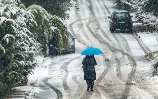 Ισχυρές χιονοπτώσεις αναμένονται ακόμη και σε χαμηλά υψόμετρα (φωτ. INTIME NEWS).