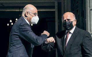 Η ανάγκη περαιτέρω ενίσχυσης των σχέσεων Ελλάδας και Ιράκ επισημάνθηκε χθες, στη συνάντηση των υπουργών Εξωτερικών των δύο χωρών (φωτ. INTIME NEWS).