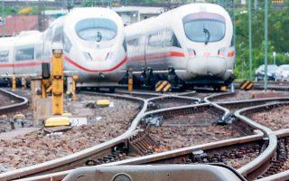 Οι γερμανικοί σιδηρόδρομοι σχεδιάζουν 18.000 νέες προσλήψεις για φέτος (φωτ. A.P.).