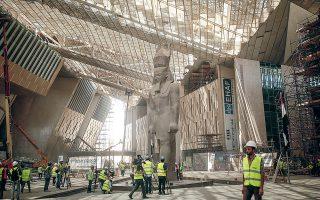 Επειτα από αναβολές χρόνων, το Μεγάλο Αιγυπτιακό Μουσείο, το μεγαλύτερο μουσείο στον κόσμο αφιερωμένο στον αρχαίο αιγυπτιακό πολιτισμό, ολοκληρώνεται φέτος (φωτ. A.P. Photo / Maya Alleruzzo).