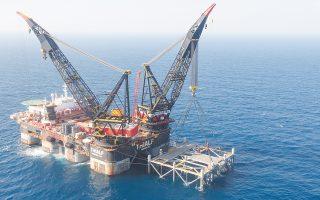 Το Κάιρο συμφώνησε με την Ιερουσαλήμ τη μεταφορά φυσικού αερίου από το κοίτασμα «Λεβιάθαν» στο Ισραήλ σε δύο σταθμούς στην Αίγυπτο. (Φωτ. Marc Israel Sellem / Pool via A.P.)