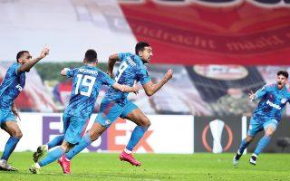 Με γκολ του Χασάν (9) στο φινάλε του αγώνα με την PSV, ο Ολυμπιακός μπήκε στη σημερινή κλήρωση της φάσης των «16» του Γιουρόπα Λιγκ. (Φωτ. INTIMENEWS)