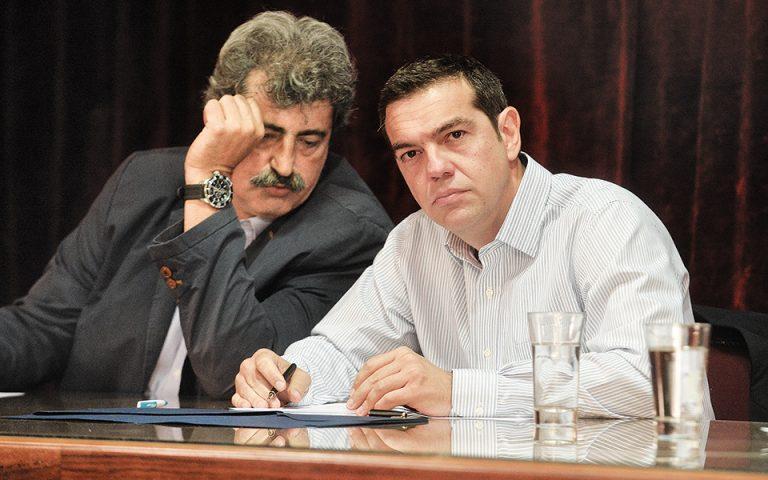 Για το τι σκοπεύει να κάνει με τον Παύλο Πολάκη ο Αλέξης Τσίπρας, γνώστης των ισορροπιών στην Κουμουνδούρου ξεκαθάριζε: «Απολύτως τίποτα. Μέχρι να γίνουν εκλογές, κανείς δεν θα τον πειράξει...». (Φωτ. ΙΝΤΙΜΕ ΝΕWS)