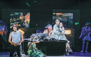 Η νέα παράσταση της  Εθνικής Λυρικής Σκηνής είναι μια συμπαραγωγή με την Οπερα του Γκέτεμποργκ και τη Βασιλική Οπερα της Δανίας. Εκτός από τον Τάση Χριστογιαννόπουλο στον πρωταγωνιστικό ρόλο, η διανομή περιλαμβάνει τη Βασιλική Καραγιάννη ως Ντόνα Αννα και τον Γιάννη Χριστόπουλο στον ρόλο του αρραβωνιαστικού της, Ντον Οτάβιο.