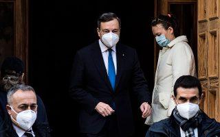 Η διαδρομή του Μάριο Ντράγκι σε κορυφαίες θέσεις προσφέρει εγγυήσεις για το πολιτικό πρόγραμμα της κυβέρνησής του. Φωτ. EPA/ANGELO CARCONI.
