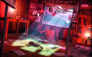 Καλλιτεχνική απεικόνιση της σοφίτας όπου ο Εριχ Ζαν παίζει τις απόκοσμες μουσικές του. Εικόνα εμπνευσμένη από το διήγημα του Λάβκραφτ.