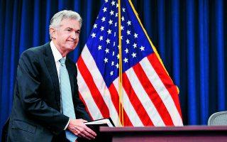 Δεδομένων των συνθηκών που έχουν διαμορφωθεί στην οικονομία εξαιτίας της πανδημίας, ο πρόεδρος της αμερικανικής κεντρικής τράπεζας, Τζ. Πάουελ, δηλώνει ότι προς το παρόν η νομισματική πολιτική πρέπει να παραμείνει «υπομονετικά διευκολυντική» («patiently accomοdative»). Φωτ. A.P.