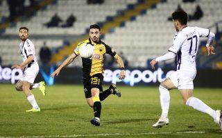 Ο Απόλλων έβαλε δύσκολα στην ΑΕΚ, αλλά η νίκη του με 2-1 δεν ήταν αρκετή για την πρόκριση. (φωτ. INTIME NEWS).