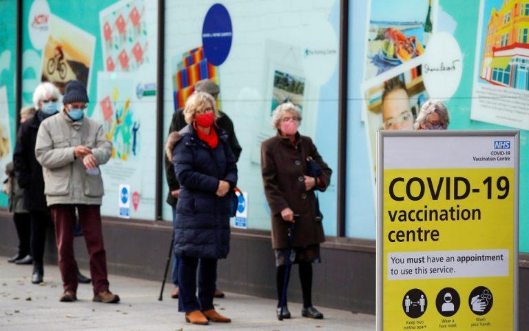 Βρετανία: Τα εμβόλια θα μειώσουν τους θανάτους κατά 96% ως τα μέσα Απριλίου